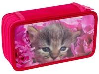Penál třípatrový 3D 04 kočky