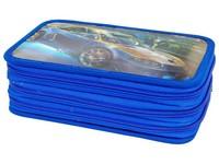 Penál třípatrový 3D 06 modré auto