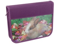 Penál se 2 klopami 3D 01 králiček