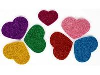 Samolepka pěnová glitrová 02 srdce