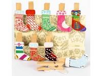 Kolíčky dekorační Winter 02 ponožka