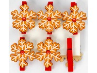 Kolíčky dekorační Winter 05 vločka