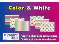 Papier dekoračný samolepiací Color & White