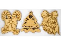 Ozdoba dřevěná XLE-005 vánoce