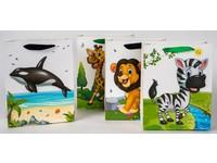 Taška papierová Lux Baby stredná 1 safari mix