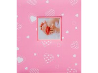 Fotoalbum DBCL-50B Baby heart 2 růžové PL
