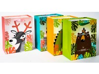 Taška papierová Kids stredná 01 safari mix