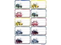 Etikety na sešity 05 auta